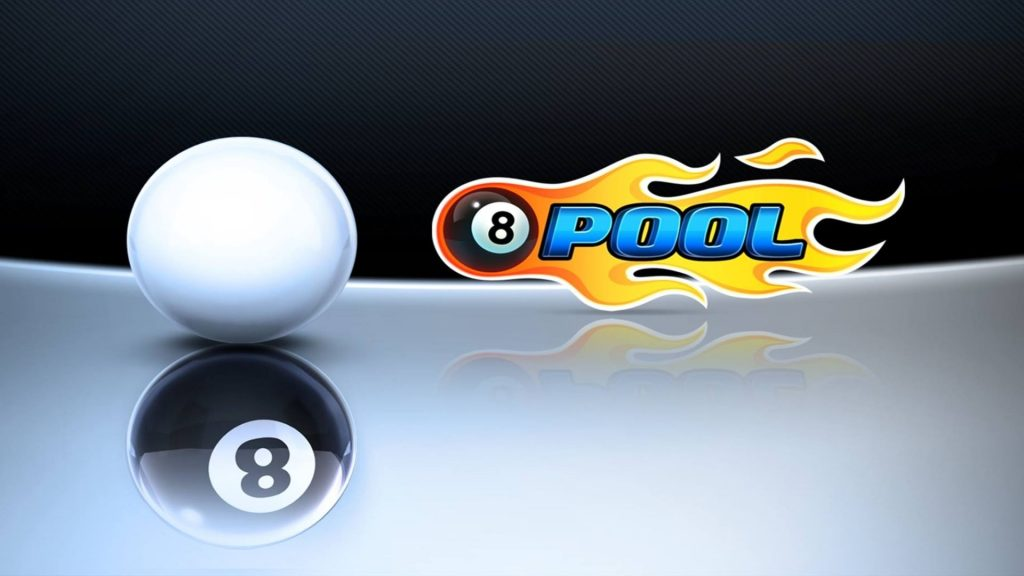 8 Ball Pool logo and White Ball's Shadow is Black