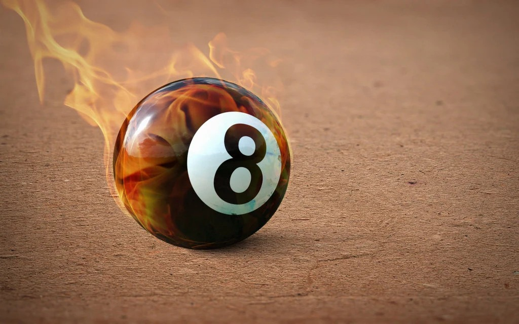 8th ball is on fire!