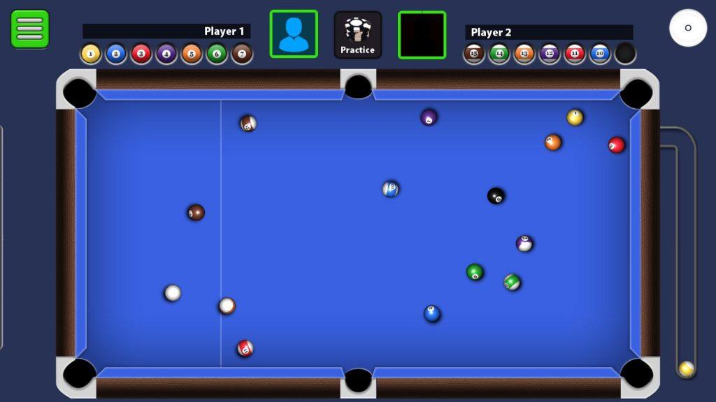8 Ball Pool Billiard Table Strewn Balls