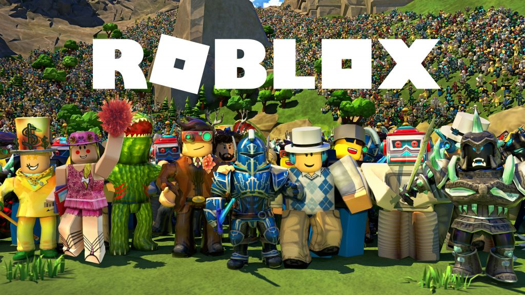Roblox Characters having fun
