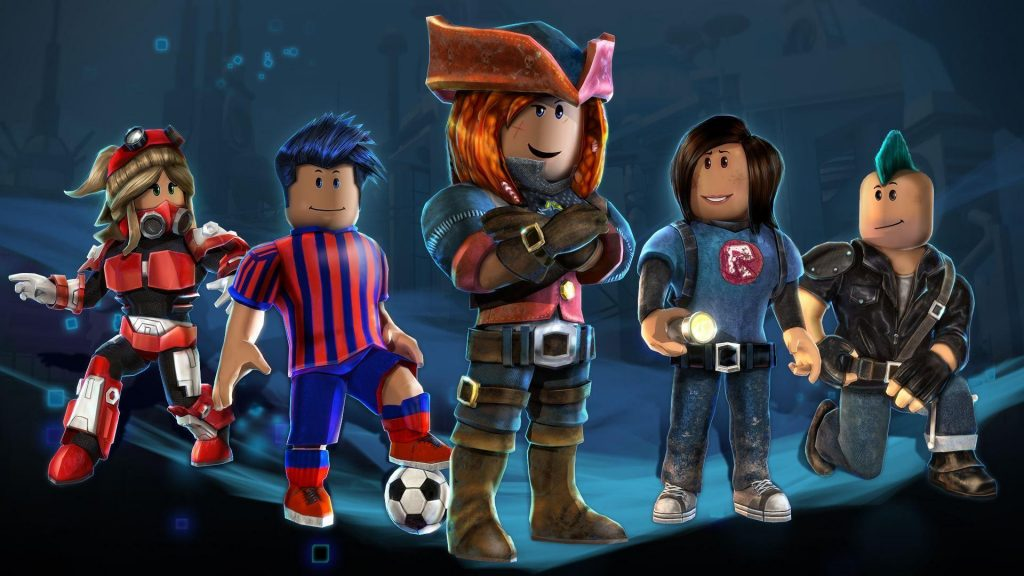 Roblox Characters Soccer hand flare different style of hairs