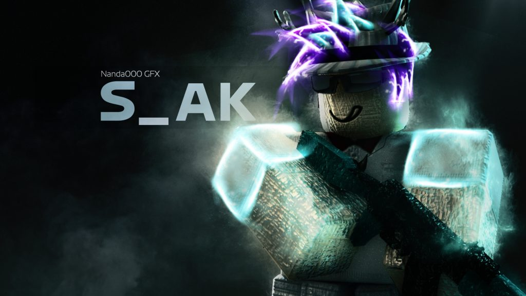 Roblox S_AK Neon Hat and Shoulders