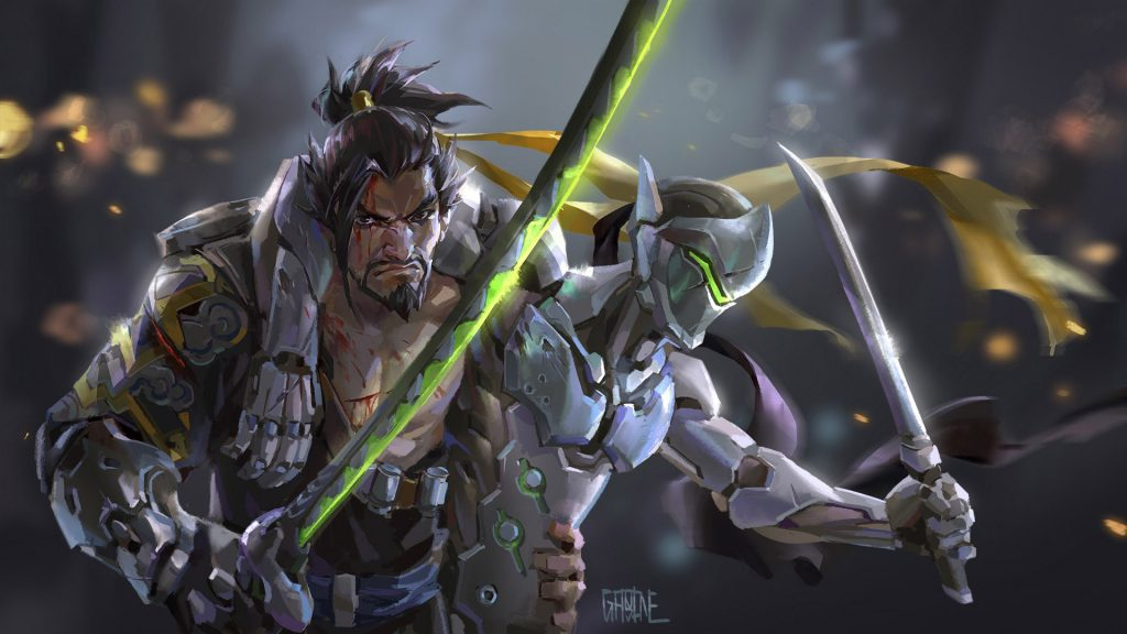 OverWatch Characters Helps to His Friend