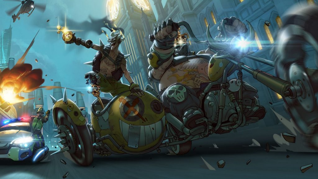 Cops chase OverWatch Characters in the motorcyles