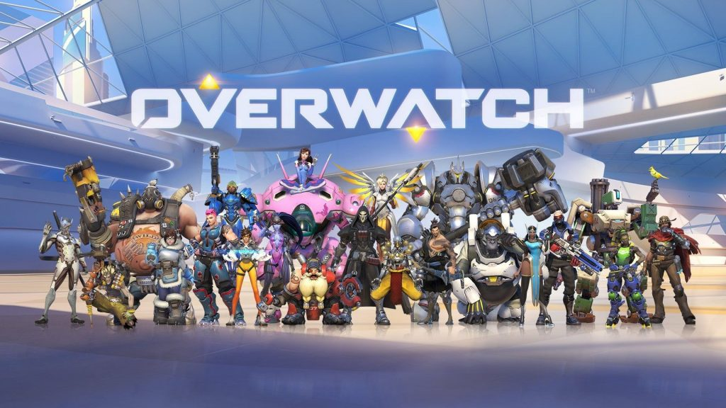 OverWatch Characters on the pitch